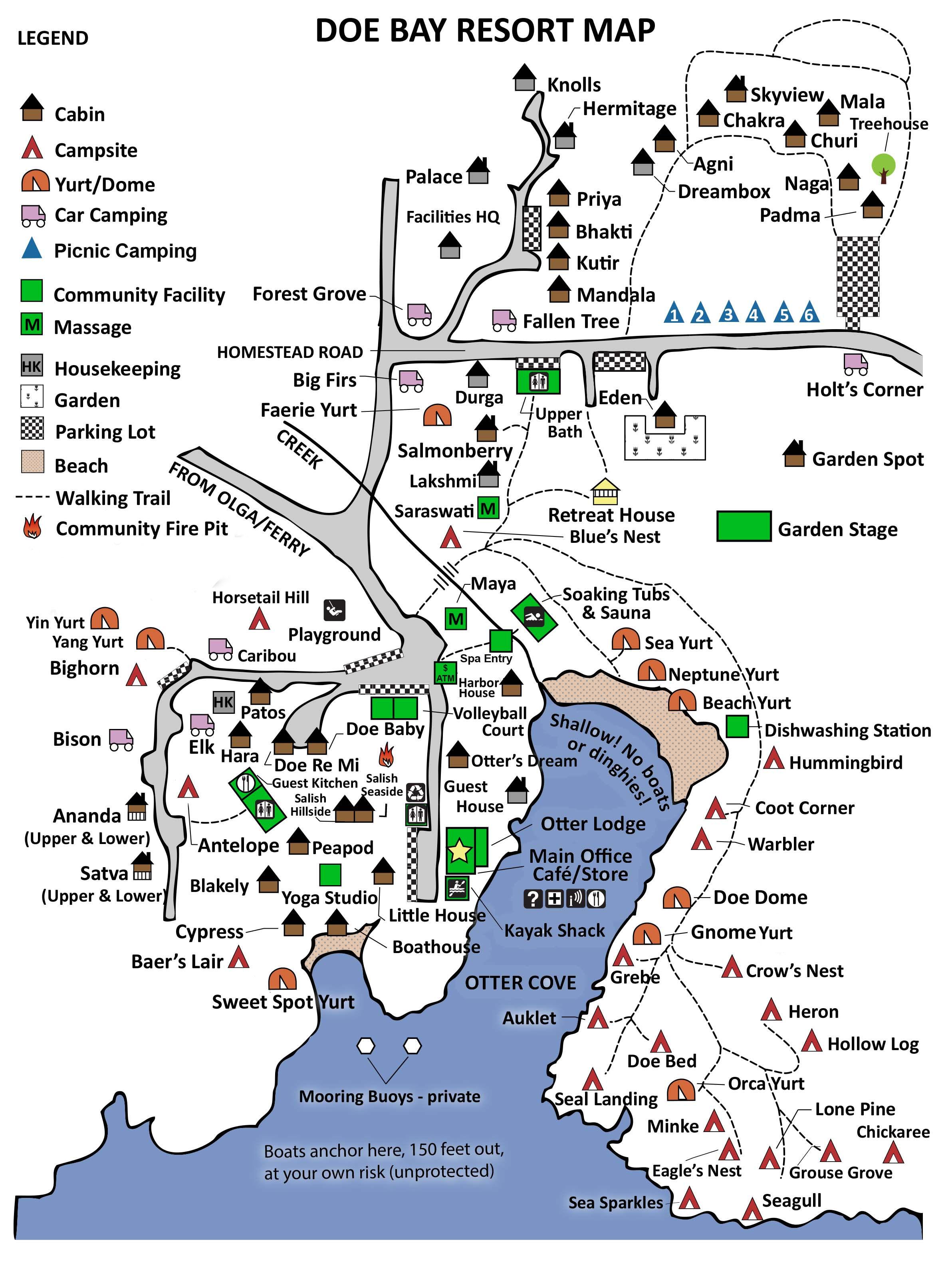 Interactive resort map